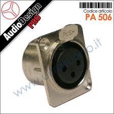 PA 506 Presa da pannello socket XLR 3pin femmina