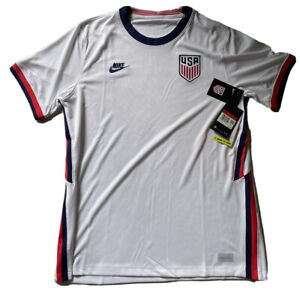 NIKE USA STADIUM HOME JERSEY SIZE L SOCCER WHITE NWT $90 RETAIL NWT CD0737-100