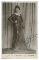 Antique Alice Delysia hand signed autograph photographic postcard actress