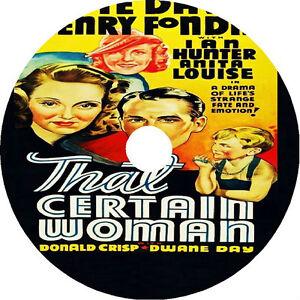 That Certain Woman DVD Bette Davis Henry Fonda 1937 V rare