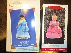 2 Hallmark Ornaments Madame Alexander 2016 2003 Cinderella & Elizabeth March