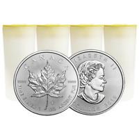 Lot of 100 - 2019 $5 Silver Canadian Maple Leaf 1 oz Brilliant Uncirculated 4 Fu