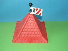 Playmobil Spitz Dach Eckturm + Flagge 3667 Löwen Fahne rot weiß 3666 Ritterburg