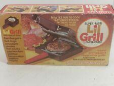 Vintage Faberware Lil Grill 261 Super Fast Sandwich Maker Hamburger New