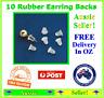 10 Pack Rubber Plastic Earring Back Backs Backings Stoppers Jewellery Stops 4mm