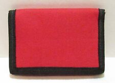AMAZING RED TRI-FOLD CANVAS WALLET . BUY 3 AND GET 1 FREE.