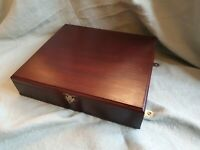 Antique Edwardian Wooden And Brass Inlay - Jewel / Trinket Sectioned Box