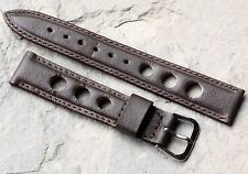 Vintage brown calf leather 18mm vintage watch rally band 1960/70s New Old Stock