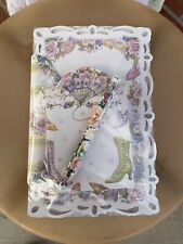 Victorian Lady Lacy Letter Writers Stationary Set