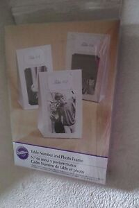 Wilton 10 table Tents 20 Cards and Photo Frame Cards Wedding Bridal Party Event