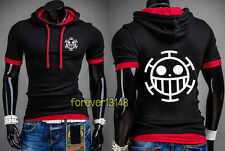Anime One Piece Trafalgar Law Stylish T-shirt Unisex Hoodie Slim Fit Tee#VX-S09
