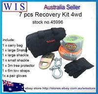 7/PK ATV/UTV Recovery & Winch Accessory Kit 4x4 4WD,4WD Recovery Kit-45996