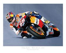 Nicky Hayden-Honda-Motogp Motos Racing impresión Poster De Steve Dunn