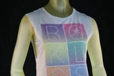 YOUNG AND RECKLESS GIRL RIBBED TANK TOP GRAY W/LOGO Size Medium