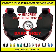 DARK GREY 2x CAR FRONT SEAT COVER PROTECTOR MERCEDES BENZ CLASS E W211 W124 W210