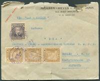 """BOLIVIA TO GERMANY """"LAB - CONDOR"""" Cover 1937 VF"""