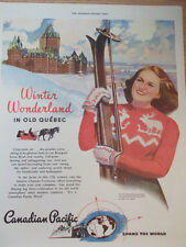 1946 Canadian Pacific Railway Advertisement Winter Wonderland