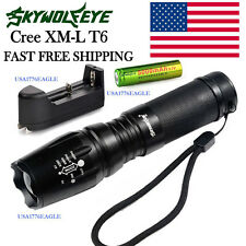 SKYWOLFEYE X800 TACTICAL MILITARY / NAVY SEAL FLASHLIGHT 8000LM TAC LIGHT USA