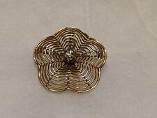 Flower Pendant Brooch. 4.5 gram 14k Yellow Gold Diamond Center