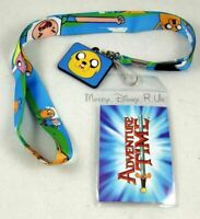 Adventure Time With Finn and Jake Lanyard With Two Sided Charm ID Holder New
