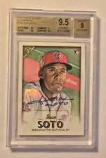 2018 Topps Gallery MLB Baseball Autograph Juan Soto RC BGS 9.5 GEM MINT