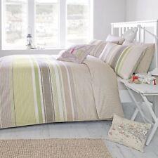 Dreams & Drapes Falmouth Stripe Reversible Duvet Cover Bedding Set Green