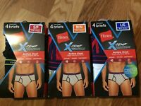 4 Hanes X-Temp Active Cool Tagless Briefs Small, Medium or Large