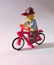 Custom Lego hipster bicyclist with broken arm