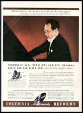 1942 Rudolf Serkin color photo Columbia Records vintage print ad