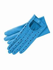 LEATHER DRIVING GLOVES FOR WOMEN blue