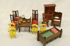 Lot of Vintage Handmade Doll House Furniture Made in Japan