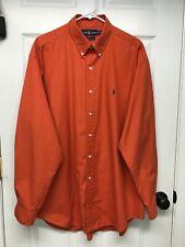 Ralph Lauren Polo Blake L/S Button-Down Shirt: Men's XL, Orange, Pony