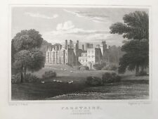 1830 Antique Print; Carstairs or Monteith House, Lanarkshire after Neale