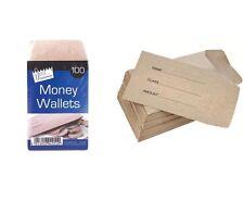 80 X Money Wallets Envelopes Wages School Petty Cash Coin Children Kids 70x105mm