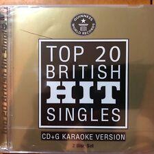 Easy Karoake Top 20 British Hit Singles Queen Elvis Michael Jack CD CD+G 2 Disc
