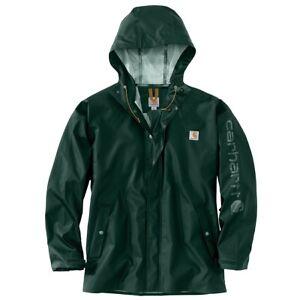 Carhartt Men's Midweight Waterproof Rain Storm Coat Hooded Size XL 103509365