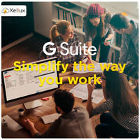 G Suite : 3 user accounts (30GB Each) + Domain Name: 1 .COM + Control Panel