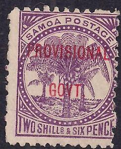 Samoa 1899 – 00 QV 2/-6d Purple Ovpt Provisional Govt No Gum SG 97 ( L1025 )