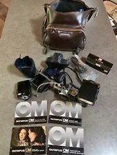 1970s Olympus OM System OM-2 Camera & Flash Photography Equipment