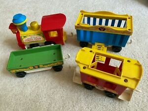 Fisher Price CIRCUS TRAIN 991 4 pieces cars