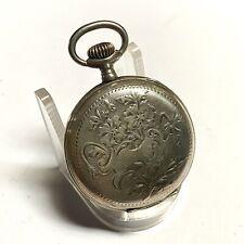 Swiss Pocket Watch (B84) Nice Design 42Mm Coin Silver