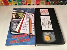 * Message In A Cellphone Family Crime Comedy VHS 2000 Nick Whitaker Jan Broberg