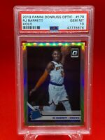 RJ BARRETT 2019 PANINI DONRUSS OPTIC #178 HOLO SILVER PRIZM ROOKIE RC PSA 10