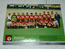 CLIPPING POSTER FOOTBALL 1983-1984 STADE RENNAIS RENNES ROAZHON BREIZH BRETAGNE
