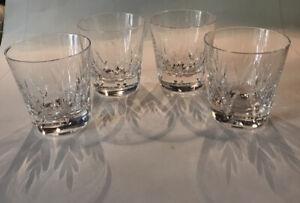 4- Stuart Kent Crystal Old Fashion Whiskey Glasses-England