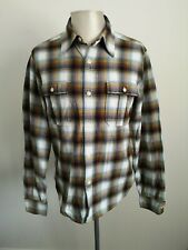 Mens Edwin Sanforized Japanese Check Smart Casual Shirt VGC - Size Medium