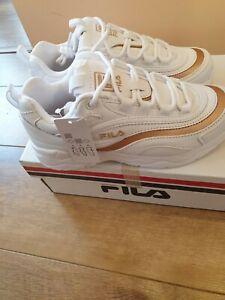 Girls Fila Ray white gold UK 2
