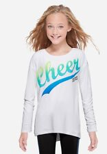 Justice Girl's Size 20 'CHEER' Long Sleeve Tee New with Tags