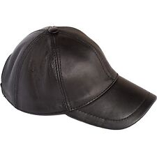 Basecap flexfit Schwarz Baseballkappe Leder Schirmmütze Baseball Cap Lederkappe