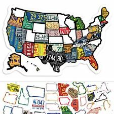"RV State Sticker Travel Map - 11"" x 17"" - USA States Visited Decal - United"